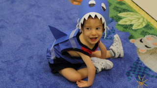 Photo: BrightStart boy in shark costume