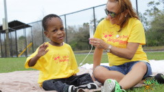 Photo: BrightStart patient and nurse at Bear Creek Park