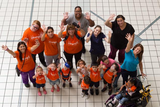 Photo: BrightStart Sanford group on mall field trip